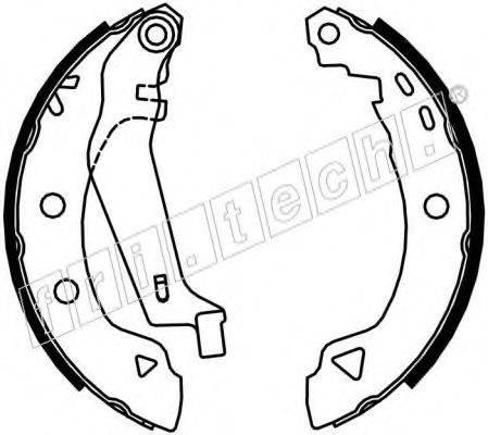 FRI.TECH. 1004008Y Комплект тормозных колодок