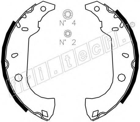 FRI.TECH. 1034091S Комплект тормозных колодок