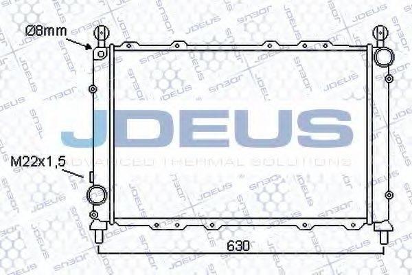 JDEUS 000V07 Радиатор, охлаждение двигателя