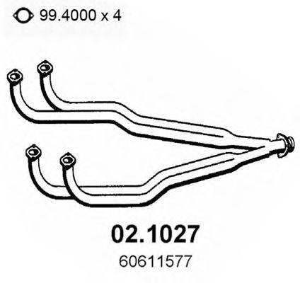 ASSO 021027 Труба выхлопного газа