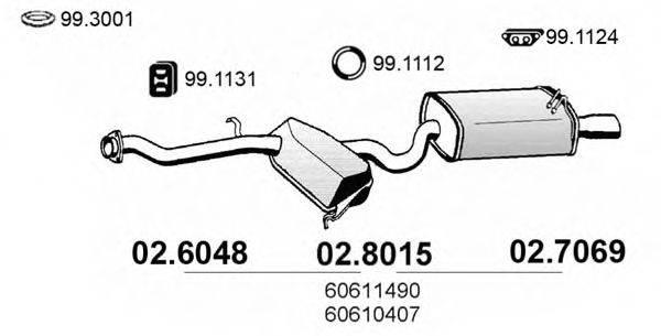 ASSO 028015 Средний / конечный глушитель ОГ