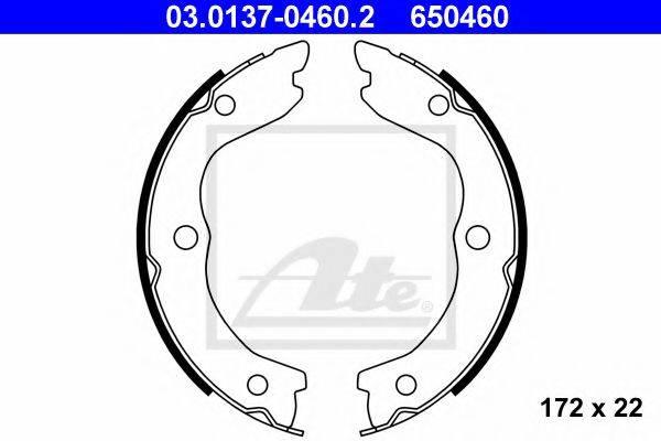 ATE 03013704602 Комплект тормозных колодок, стояночная тормозная система