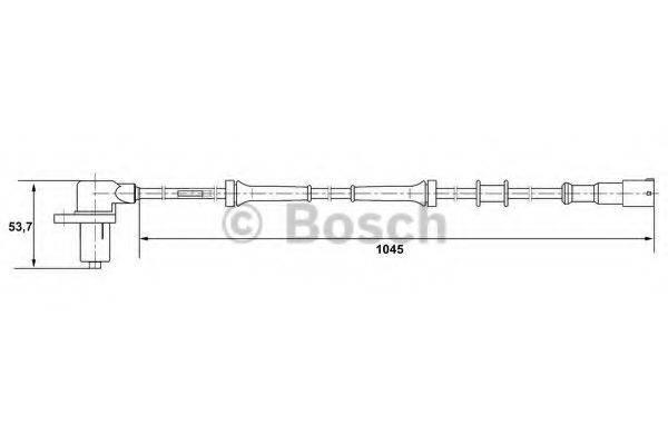 BOSCH 0265006162 Датчик, частота вращения колеса