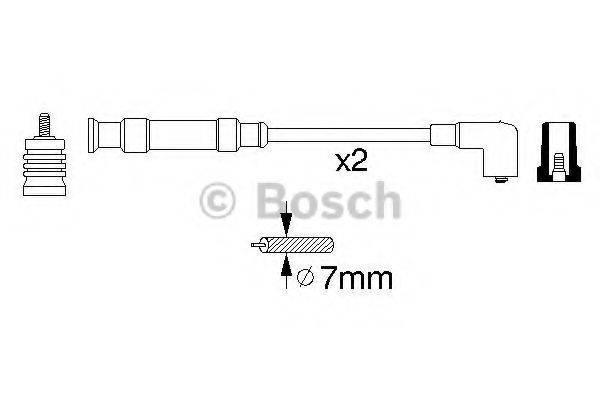 BOSCH 0356912804 Комплект проводов зажигания