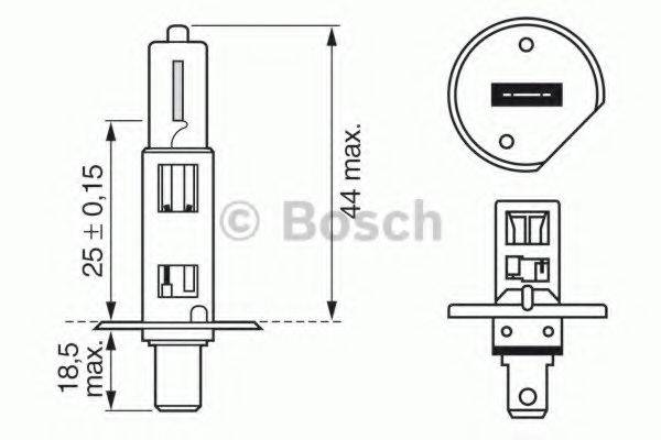 BOSCH 1987302018 Лампа накаливания, фара дальнего света; Лампа накаливания, основная фара; Лампа накаливания, противотуманная фара