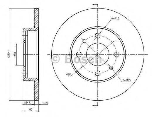 BOSCH 0986BB4351 Тормозной диск