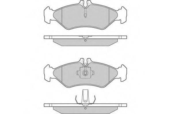 Комплект тормозных колодок, дисковый тормоз E.T.F. 12-0688