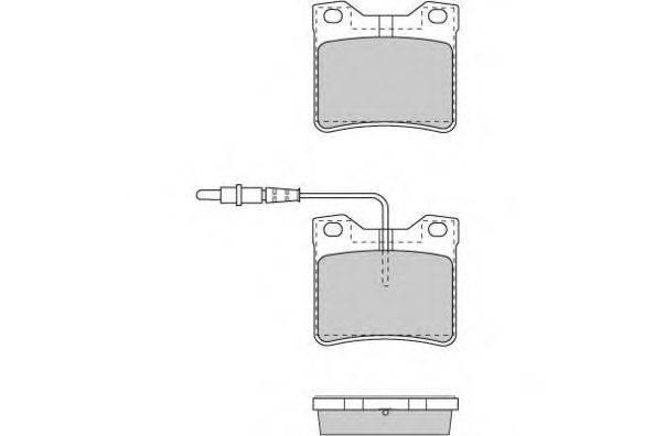 Комплект тормозных колодок, дисковый тормоз E.T.F. 12-0705