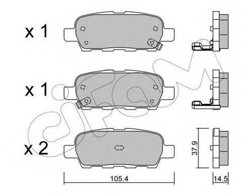 CIFAM 8226120 Комплект тормозных колодок, дисковый тормоз