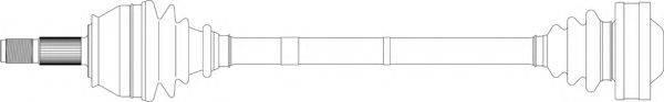 GENERAL RICAMBI AR3041 Приводной вал