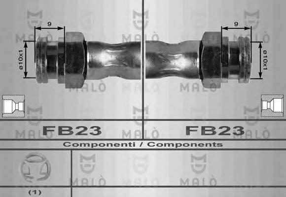 MALO 8417 Тормозной шланг