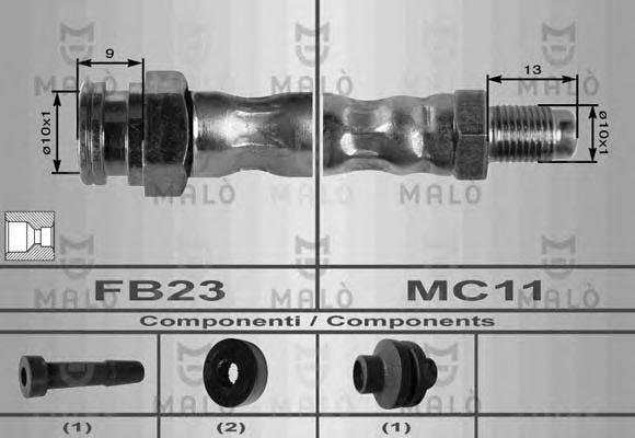 MALO 8560 Тормозной шланг