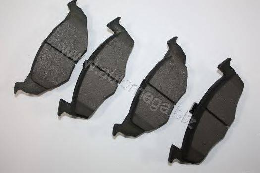 Комплект тормозных колодок, дисковый тормоз AUTOMEGA 3169801516N0C
