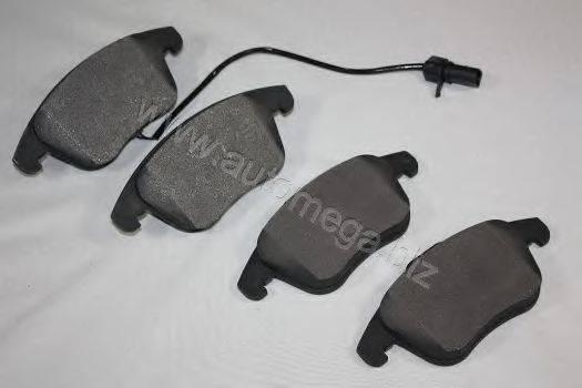 Комплект тормозных колодок, дисковый тормоз AUTOMEGA 3169801518K0F
