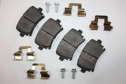 Комплект тормозных колодок, дисковый тормоз AUTOMEGA 3169804511K0G