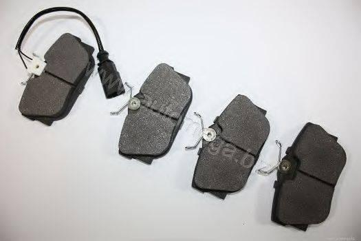 Комплект тормозных колодок, дисковый тормоз AUTOMEGA 3169804517D0F