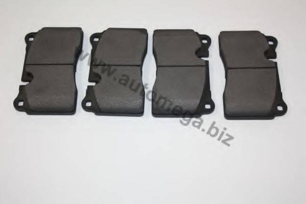 Комплект тормозных колодок, дисковый тормоз AUTOMEGA 3169801517L6J
