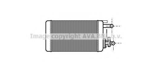 PRASCO FT6106 Теплообменник, отопление салона