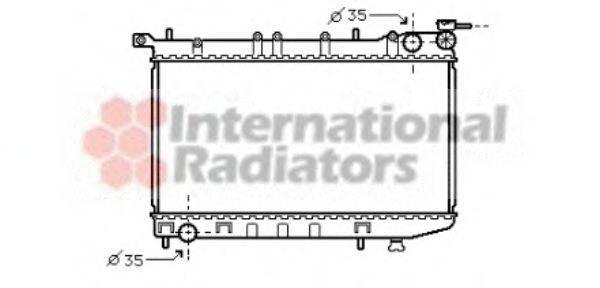 Радиатор, охлаждение двигателя VAN WEZEL 13002174