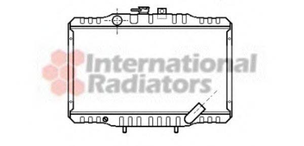 Радиатор, охлаждение двигателя VAN WEZEL 32002062