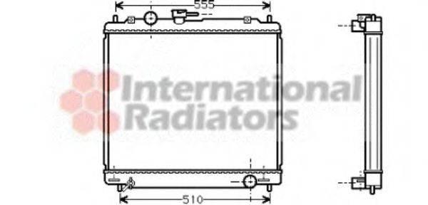 Радиатор, охлаждение двигателя VAN WEZEL 32002109