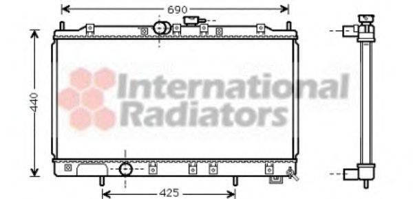 Радиатор, охлаждение двигателя VAN WEZEL 32002122