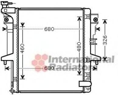 Радиатор, охлаждение двигателя VAN WEZEL 32002202
