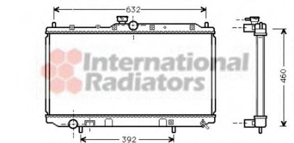 Радиатор, охлаждение двигателя VAN WEZEL 32002142