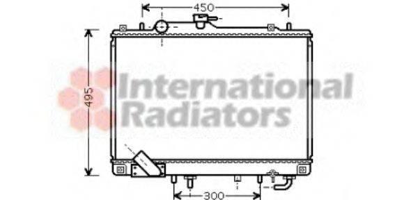 Радиатор, охлаждение двигателя VAN WEZEL 32002157