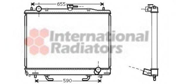 Радиатор, охлаждение двигателя VAN WEZEL 32002163