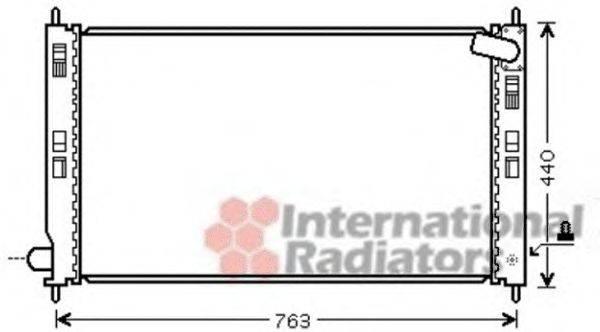 Радиатор, охлаждение двигателя VAN WEZEL 32002201