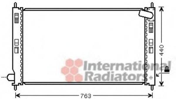 Радиатор, охлаждение двигателя VAN WEZEL 32002207