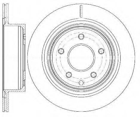WOKING D699810 Тормозной диск