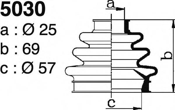 DEPA 5030 Комплект пылника, приводной вал