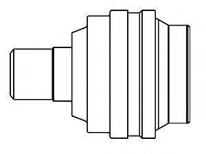 Шарнирный комплект, приводной вал GSP 605009