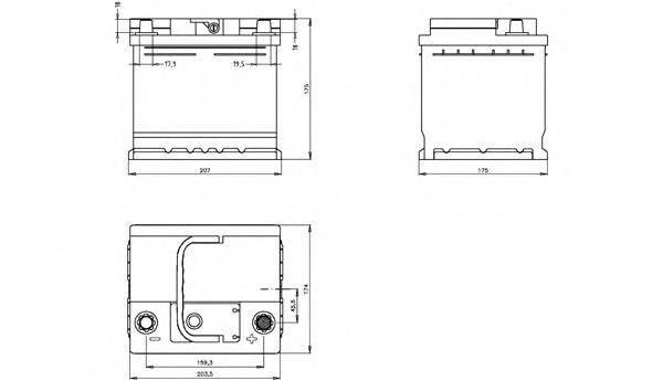 OPEN PARTS BT044L1B00 Стартерная аккумуляторная батарея