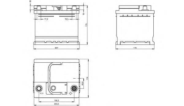 OPEN PARTS BT045L1B00 Стартерная аккумуляторная батарея