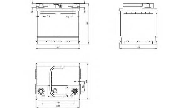OPEN PARTS BT055L130 Стартерная аккумуляторная батарея