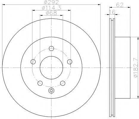 TEXTAR 92144003 Тормозной диск