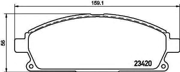 TEXTAR 2342004 Комплект тормозных колодок, дисковый тормоз