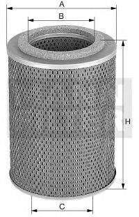 Масляный фильтр; Фильтр, Гидравлическая система привода рабочего оборудования MANN-FILTER H 1053/2 n