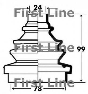 FIRST LINE FCB2334 Пыльник, приводной вал