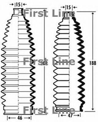 FIRST LINE FSG3353 Пыльник, рулевое управление