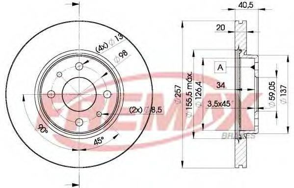 FREMAX BD5056 Тормозной диск