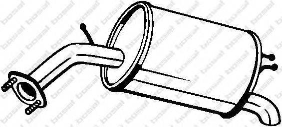 Глушитель выхлопных газов конечный BOSAL 128-007