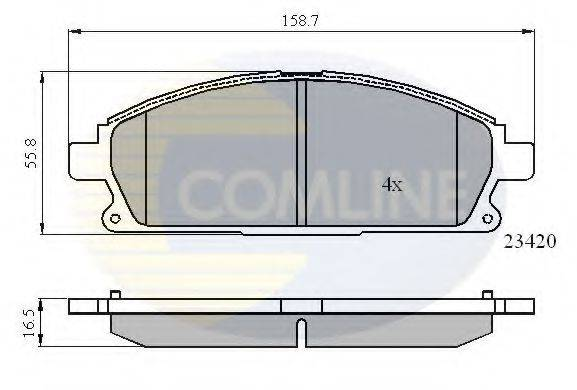 COMLINE CBP0591 Комплект тормозных колодок, дисковый тормоз