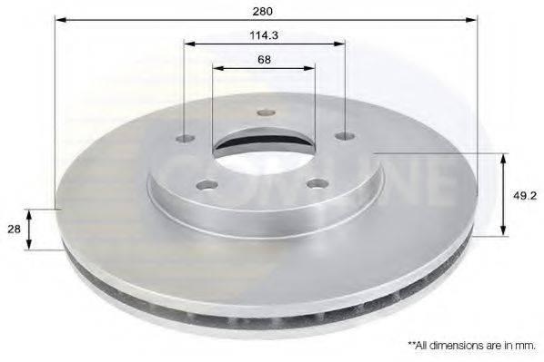 COMLINE ADC0260V Тормозной диск
