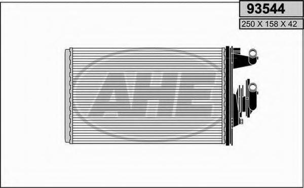 AHE 93544 Теплообменник, отопление салона