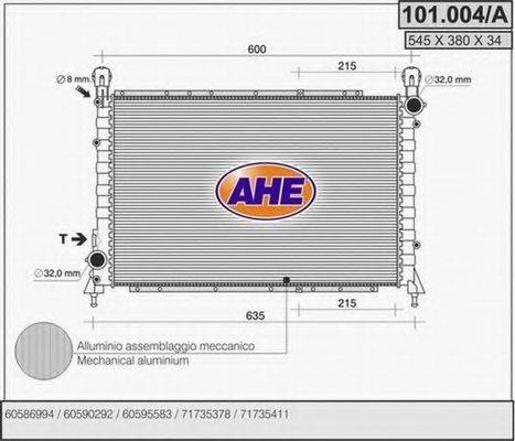 AHE 101004A Радиатор, охлаждение двигателя