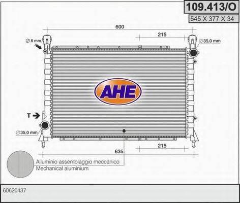 AHE 109413O Радиатор, охлаждение двигателя